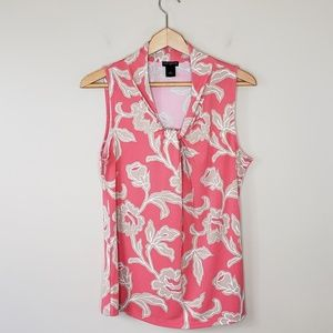 Ann Taylor Factory | Floral Knotted Neck Tank Top